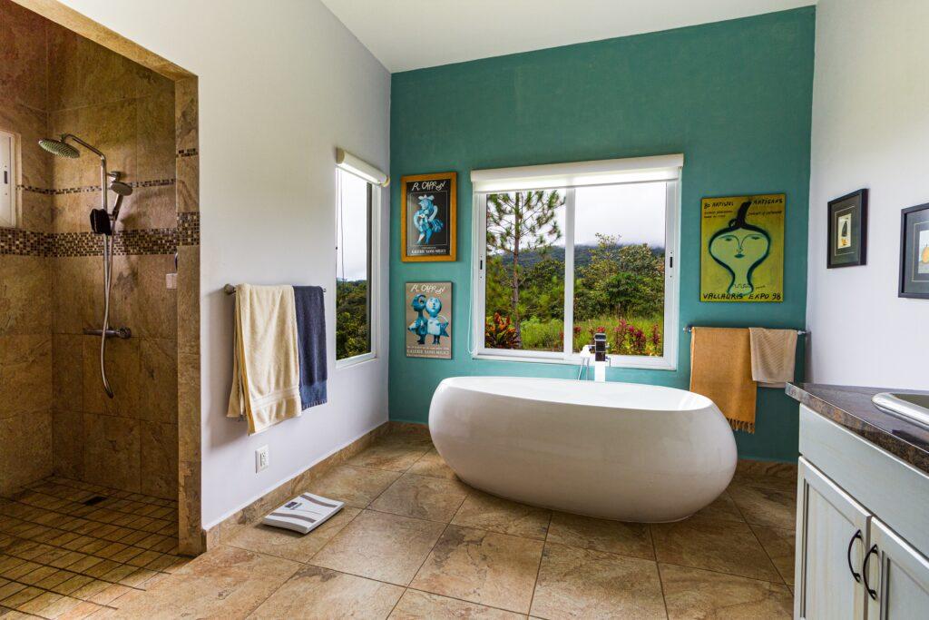 yeşil banyo duvarı