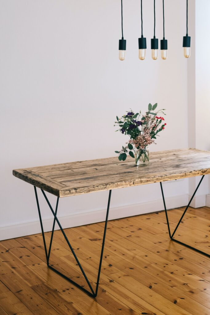 ahşap masa, Ağaç Dekorasyon Fikirleri