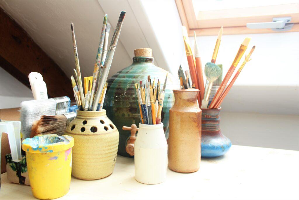 Kolay Sulu Boya Çalışmaları, sulu boya fırçaları