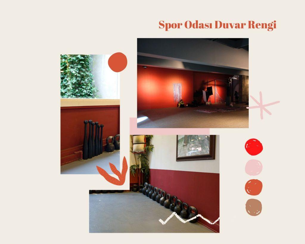 spor odası duvar rengi, kırmızı, duvar rengi seçimi