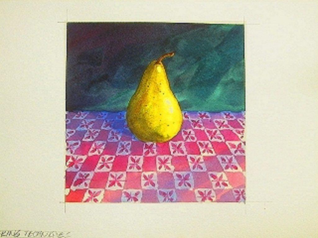Sulu Boya Resmi, armut sulu boya resmi